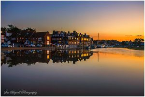 Blakeney quay and reflections