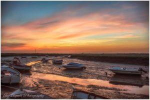 Blakeney sunset and boats