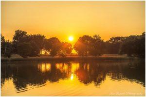 Blickling Hall lake sunset