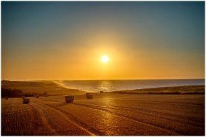 Weybourne sunset and reflections